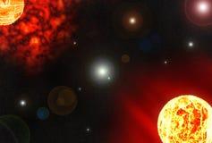 Sol- planet Stock Illustrationer
