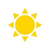 Sol plano del icono Fotografía de archivo