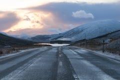 Sol poniente, Glen Carron Imagenes de archivo