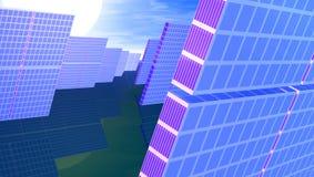 sol- power2 royaltyfri illustrationer