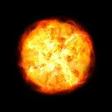 Sol quente ilustração do vetor