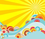 Sol quente Imagem de Stock
