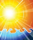 Sol realmente caliente del verano