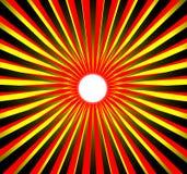Sol rojo amarillo negro imagen de archivo libre de regalías