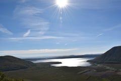 Sol sjö Arkivfoton