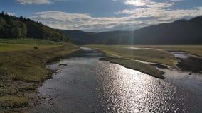 Sol sjö Arkivbilder