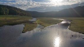 Sol sjö Arkivbild