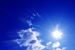 sol- sky Royaltyfri Foto