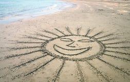 Sol sonriente Fotos de archivo libres de regalías