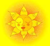 Sol sonriente Fotografía de archivo