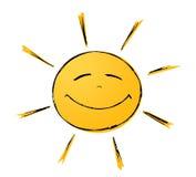 Sol sonriente Foto de archivo libre de regalías