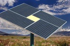 sol- station för energiström Royaltyfria Foton