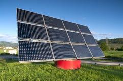 sol- station för panel Arkivbilder