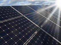 sol- station för photovoltaicsström Arkivfoto