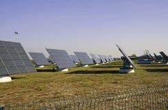 sol- station för ström Royaltyfria Bilder