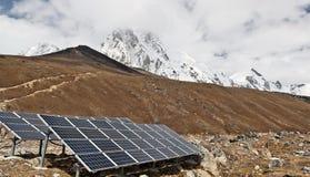 sol- station för ström Fotografering för Bildbyråer