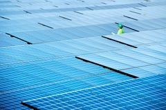 sol- station för ström Arkivfoto