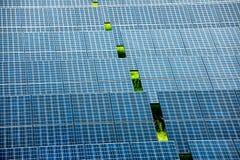 sol- station för ström Arkivbilder