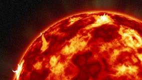 Sol- storm Arkivbild