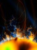 sol- stormsun för signalljus Arkivbild