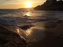 Sol & strand Arkivfoto