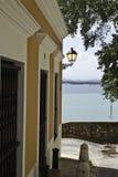 Sol street, Old San Juan, Puerto Rico Stock Photos