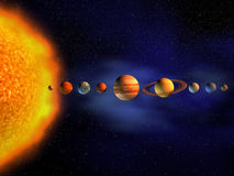 sol- system Royaltyfri Fotografi
