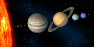 sol- system Arkivfoton