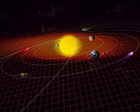 sol- system Royaltyfria Foton