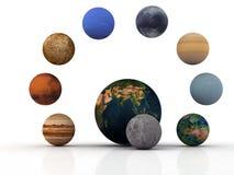 sol- system Arkivbilder