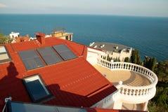 sol- system för alternativ energi Arkivfoto