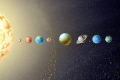 sol- system för planet Arkivbilder