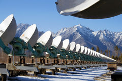 sol- teleskop för radio Royaltyfri Foto