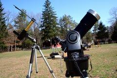 sol- teleskop två Arkivbilder