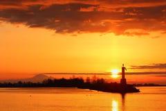 Sol upp, Steveston hamn, British Columbia Fotografering för Bildbyråer