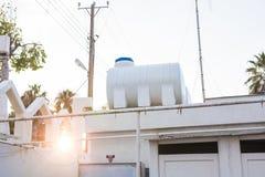 Sol- varmvattensystem Royaltyfria Bilder