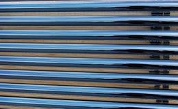 sol- vatten för värmevärmeapparatrør arkivbilder