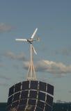 Sol, vind, vatten och kärnkraftverk Royaltyfria Bilder