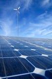 sol- wind för energi Royaltyfri Foto