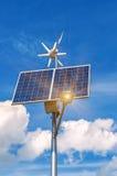 sol- windmill för panel Royaltyfria Foton