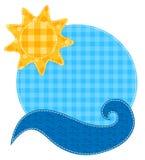 Sol y onda del remiendo. Fotografía de archivo libre de regalías