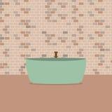 Sola bañera en Front Of Brick Wall Fotografía de archivo libre de regalías