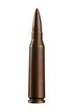 Sola bala del rifle aislada Fotos de archivo libres de regalías