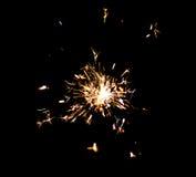Sola bengala festiva brillante de la Navidad del Año Nuevo Foto de archivo