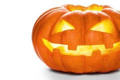 Sola calabaza de Halloween Jack asustadizo O& x27; Cara de la linterna Imagenes de archivo