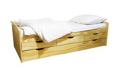 Sola cama Fotografía de archivo