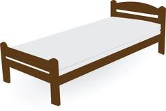 Sola cama de madera foto de archivo