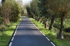 Sola carretera nacional del carril Foto de archivo libre de regalías