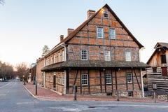 Sola casa de los hermanos en Salem vieja Imagen de archivo libre de regalías