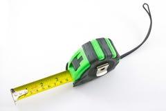 Sola cinta métrica verde y negra Foto de archivo libre de regalías